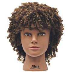 Celebrity Alicia Ethnic Curly Hair Mannequin Head