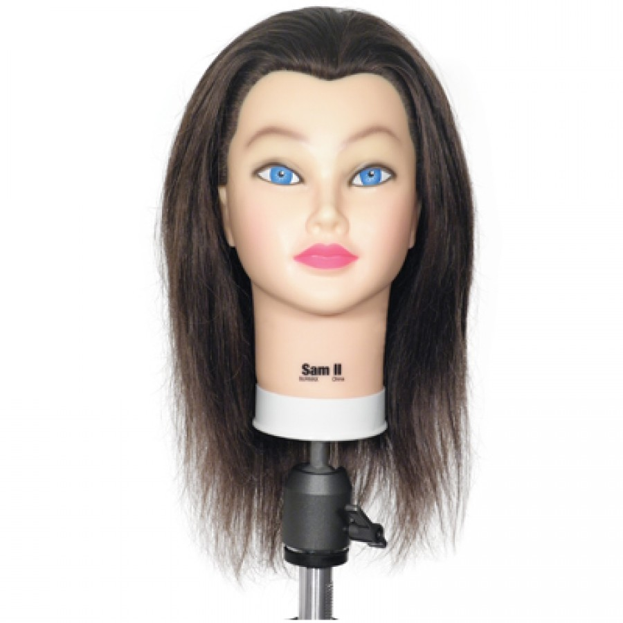 Sam II Brown Cosmetology Mannequin Head ... - StyleBell.com
