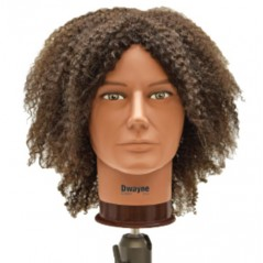 Dwayne Male Textured Human Hair Manikin Head