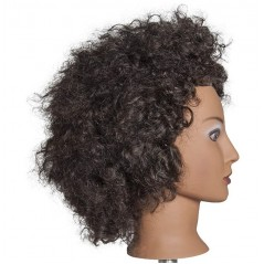 Diane D315 Naomi Black Textured 100% Human Hair Mannequin Head
