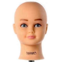 Bald Female Child Manikin Doll Head