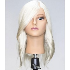 "Hairart Bianca 17"" Platinum Blonde Human Hair Mannequin - 4936"