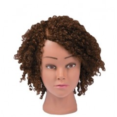 Marianna Ms. Maya Dark Skin Complexion Curly Hair Mannequin Head